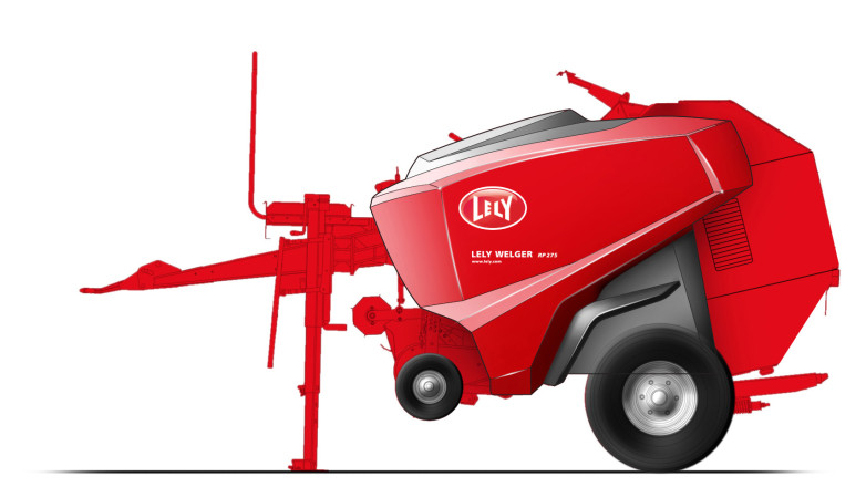 Design of a baler for Lely - Concept sketch