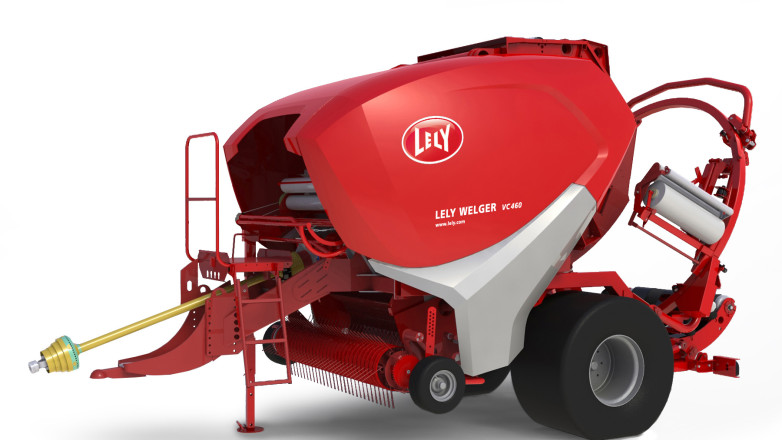 Design of a baler for Lely - Render of 3D CAD model