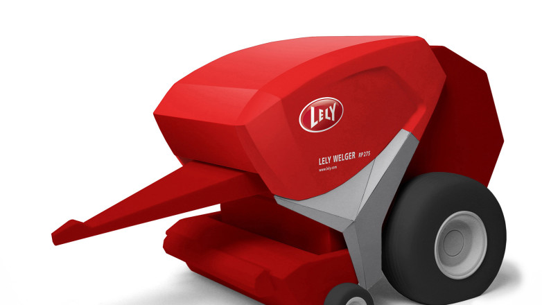 Design of a baler for Lely - Foam model scale 1:10
