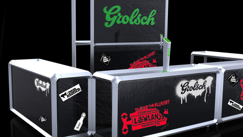 Render for the Grolsch eventbar