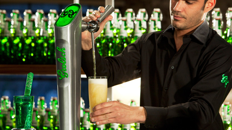 Draft tower for Grolsch
