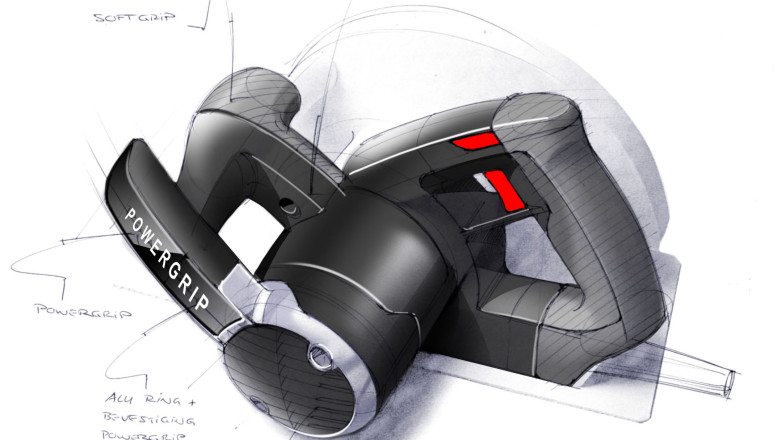Skil Master series - Circular Saw Sketch over foammodel