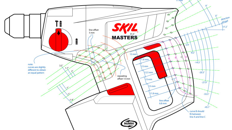 Skil Master series - Sketch Product graphics Cordless hamerdrill