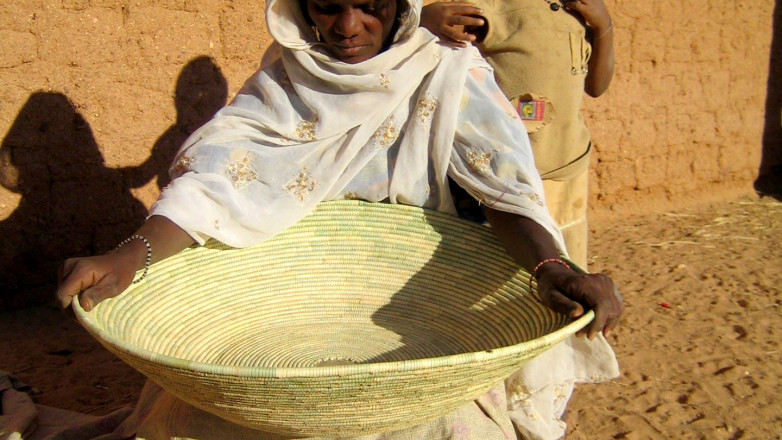 Touareg woman working