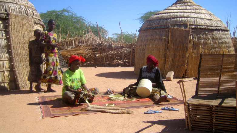 Touareg people working on their products