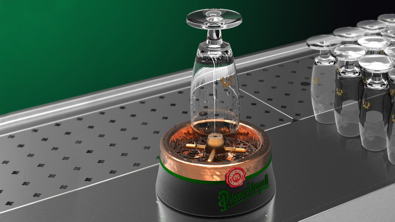 Product design for Pilsner Urquell - Rinser On Bar