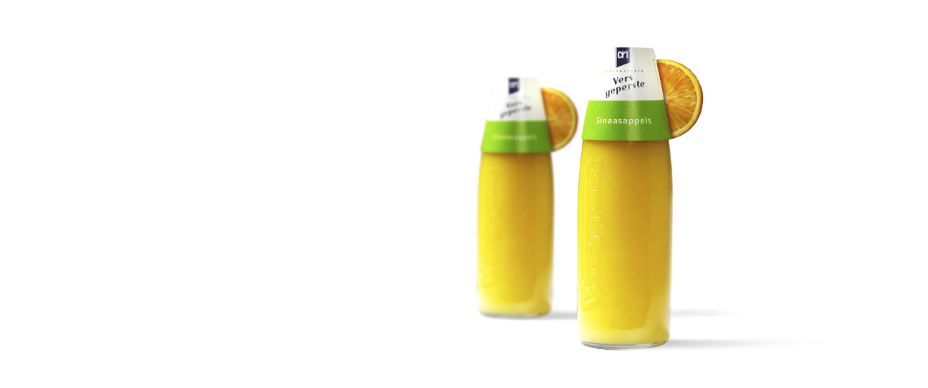 Design of a juice bottle for Albert Heijn