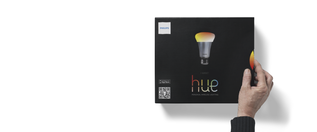 Interactive packaging design for Philips Hue