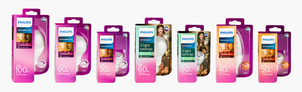 Philips New Led packaging wide