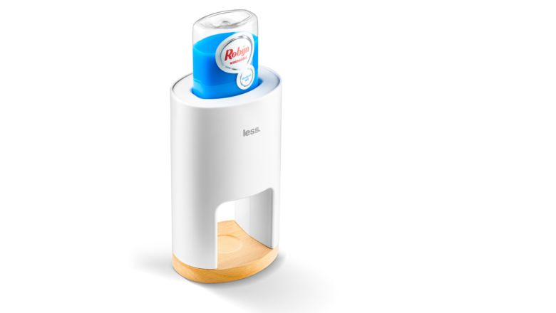 Less laundry detergent dispenser